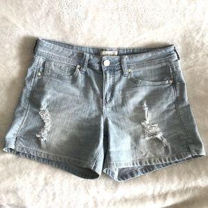 Seven7 Distressed Light wash Jean Shorts